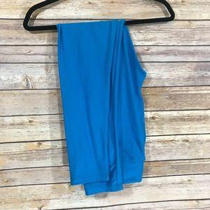 LuLaRoe leggings - solid blue